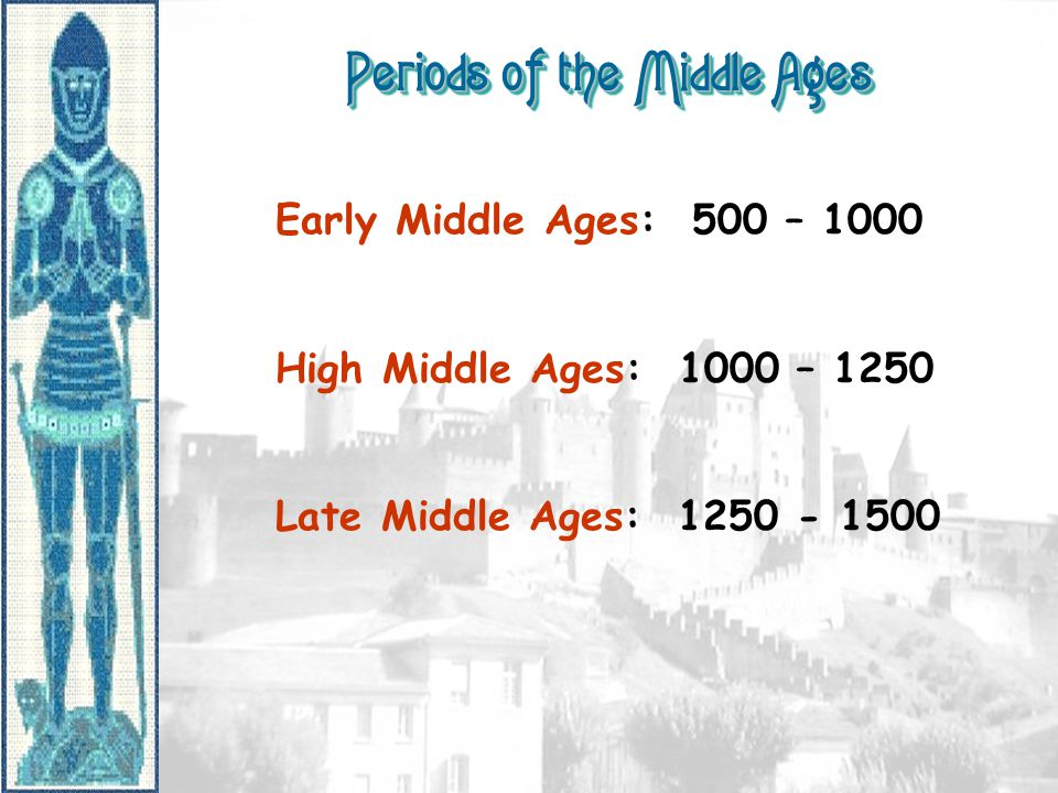 Periods of the Middle Ages