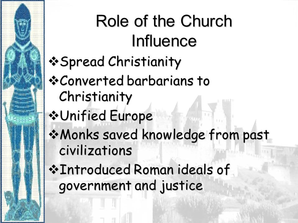 Role of the Church Influence