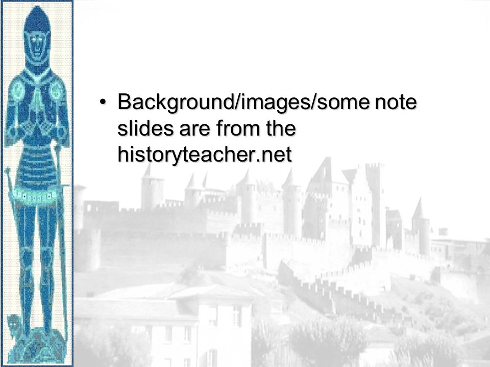 Background/images/some note slides are from the historyteacher.net
