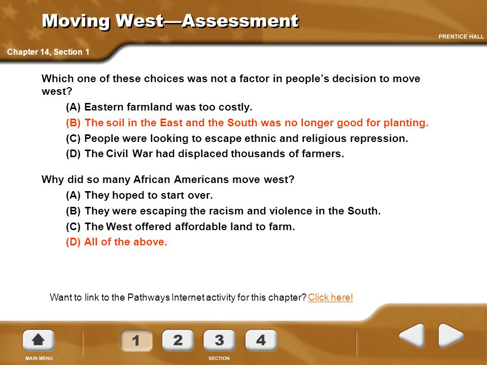 Moving West—Assessment