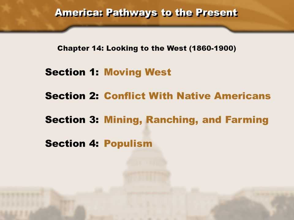 America: Pathways to the Present