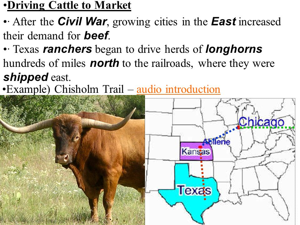 Example) Chisholm Trail – audio introduction