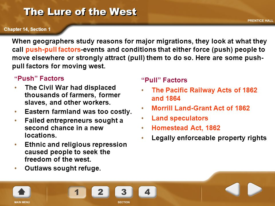 The Lure of the West Chapter 14, Section 1.