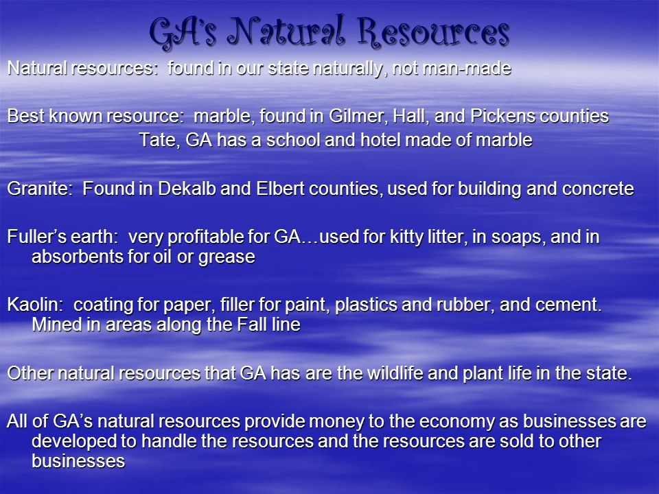 GA's Natural Resources