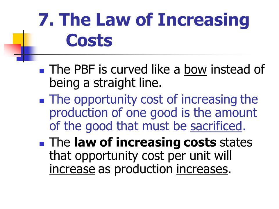 7. The Law of Increasing Costs