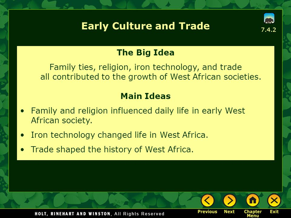 Early Culture and Trade