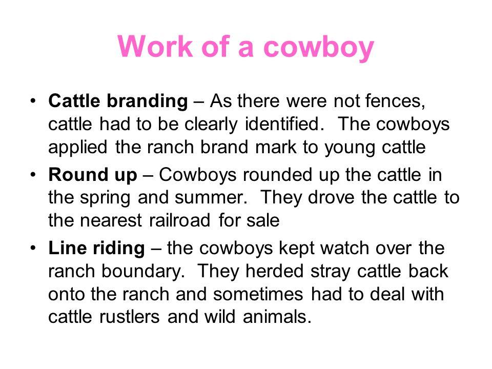 Work of a cowboy