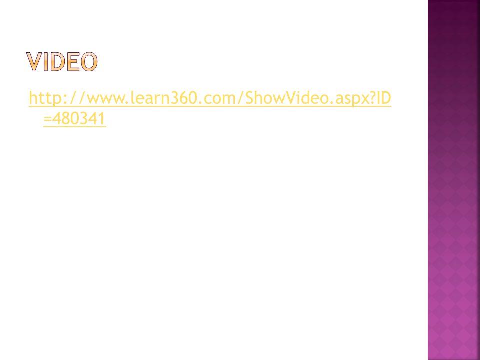 Video http://www.learn360.com/ShowVideo.aspx ID =480341