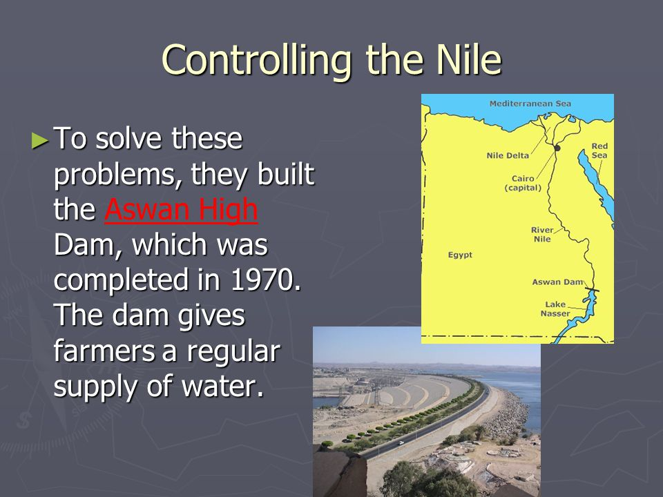 Controlling the Nile