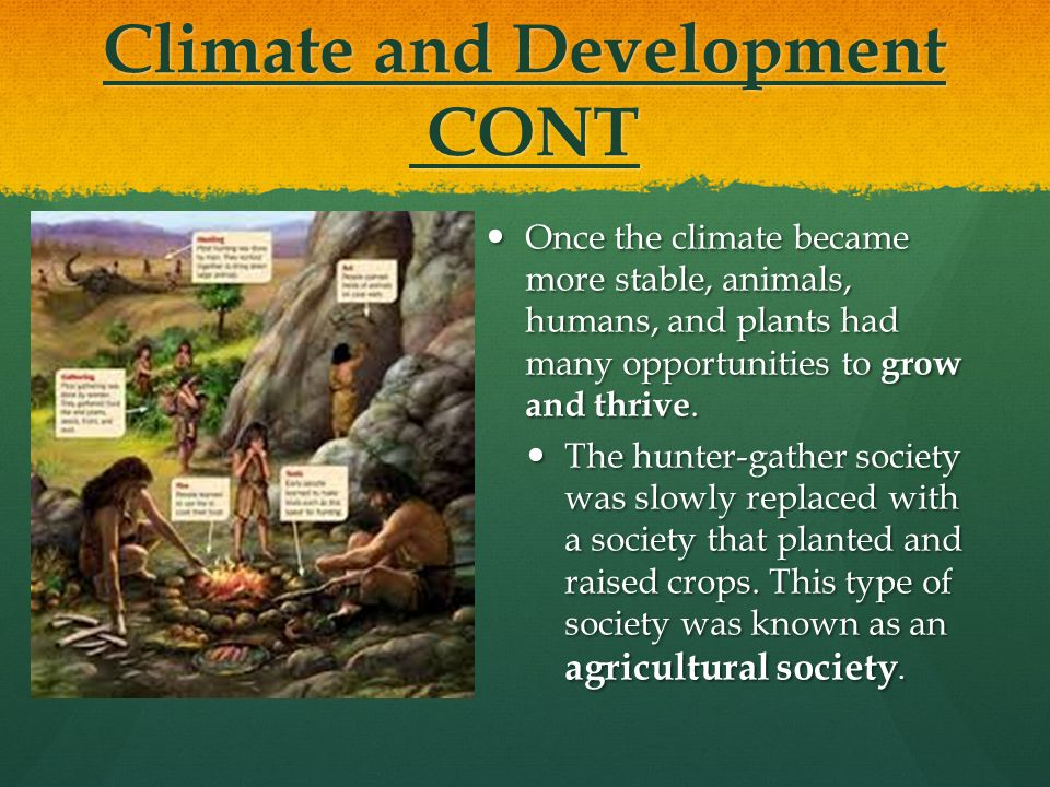 Climate and Development CONT