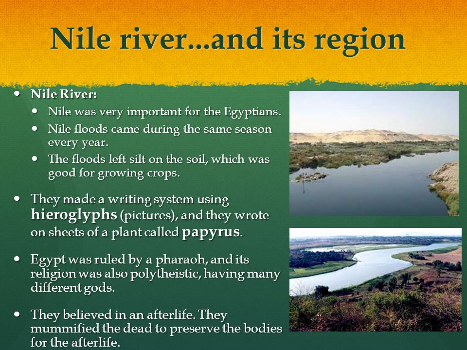 Nile river...and its region