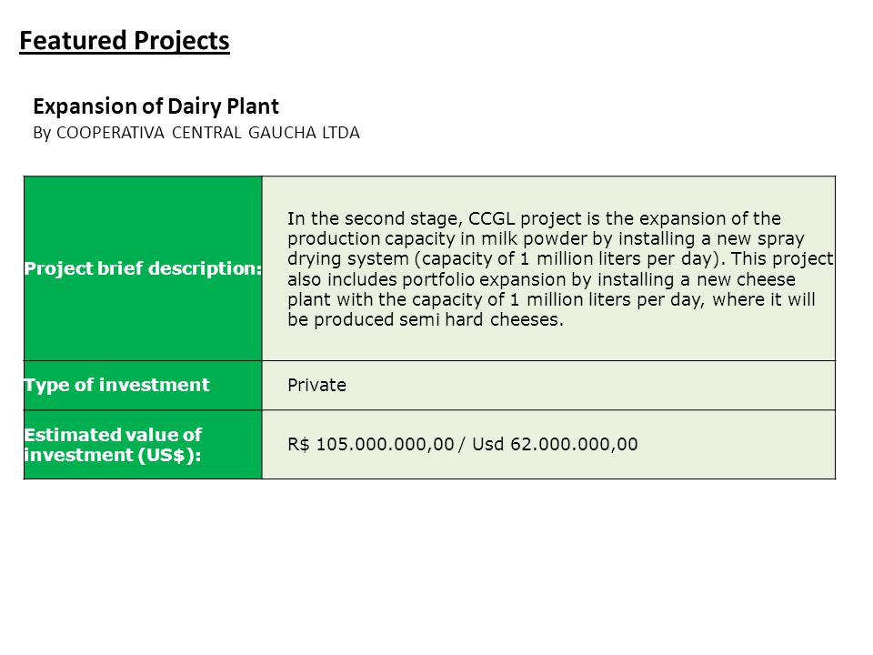 Featured Projects Expansion of Dairy Plant