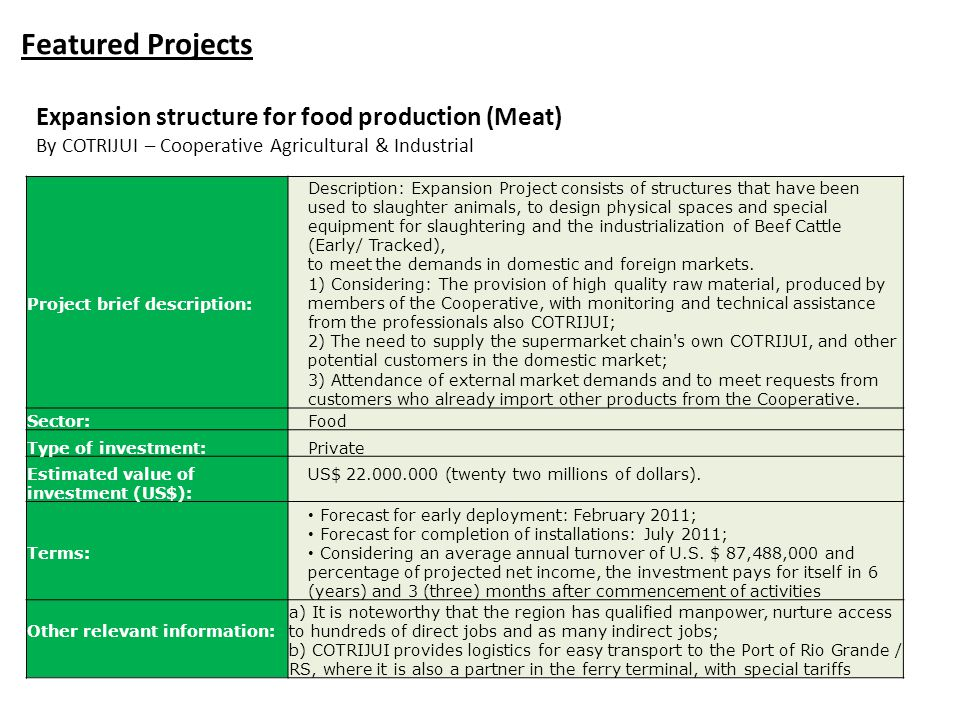 Featured Projects Expansion structure for food production (Meat)