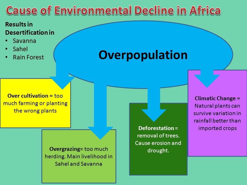 Cause of Environmental Decline in Africa
