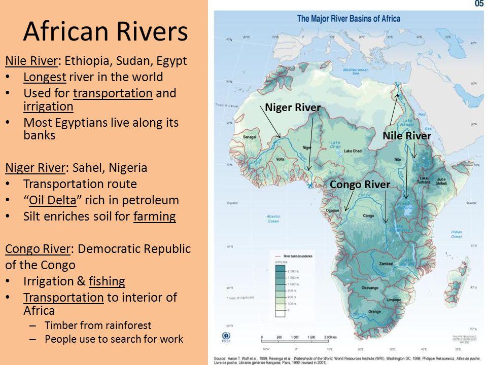 African Rivers Nile River: Ethiopia, Sudan, Egypt