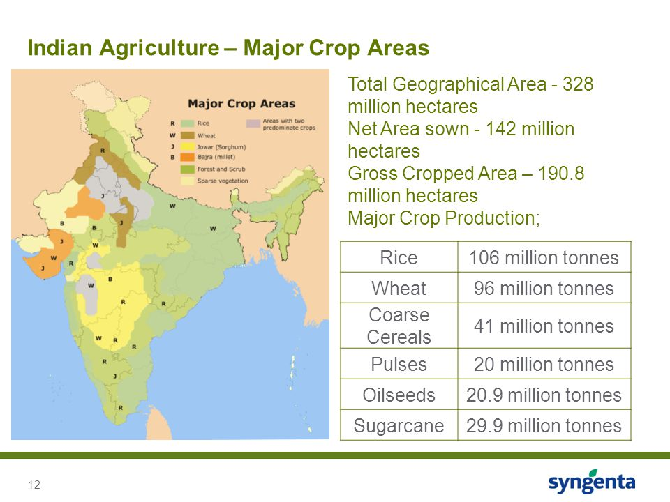 Indian Agriculture – Major Crop Areas