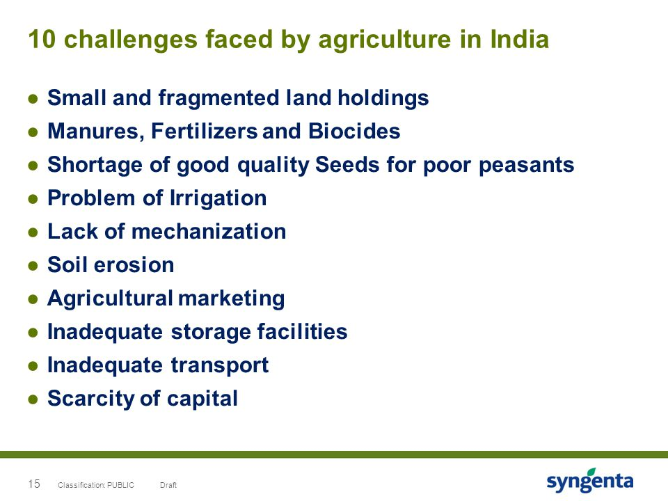 10 challenges faced by agriculture in India