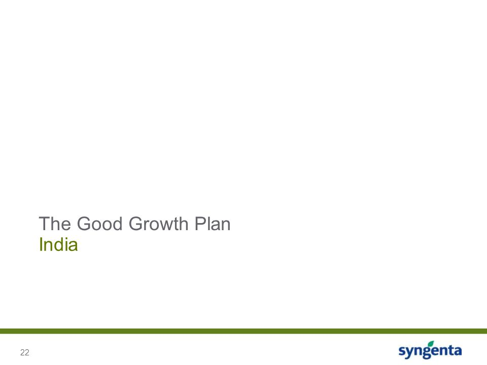 The Good Growth Plan India