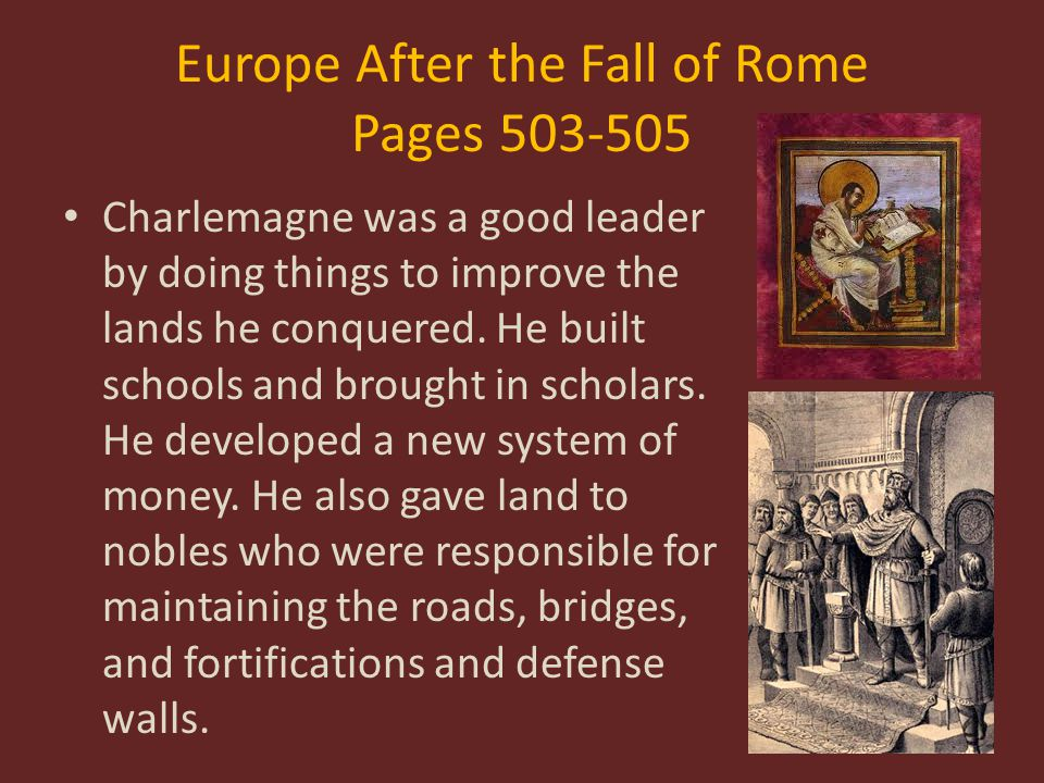 Europe After the Fall of Rome Pages 503-505