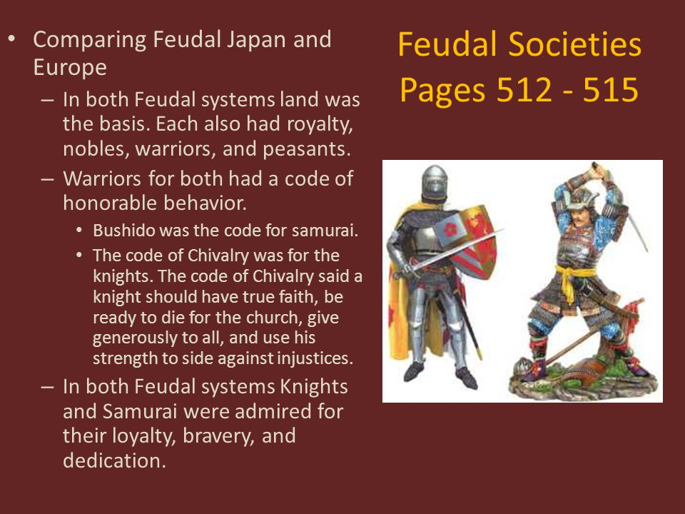 Feudal Societies Pages 512 - 515