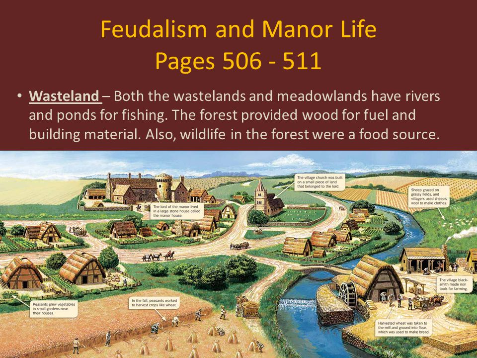 Feudalism and Manor Life Pages 506 - 511