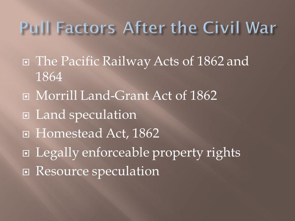 Pull Factors After the Civil War