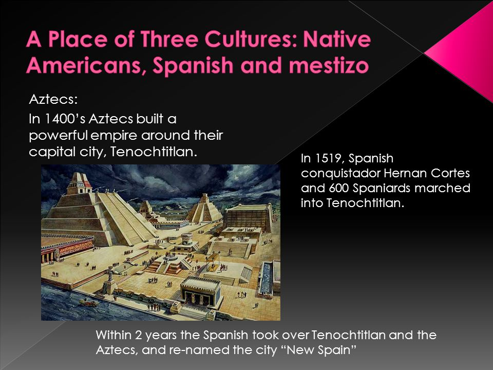 A Place of Three Cultures: Native Americans, Spanish and mestizo