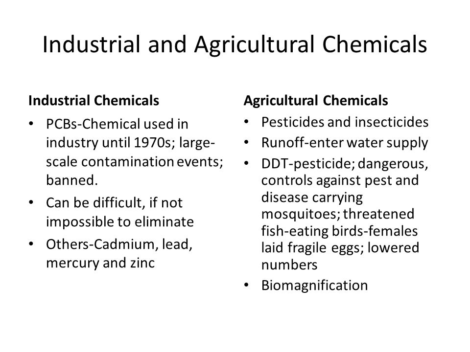 Industrial and Agricultural Chemicals