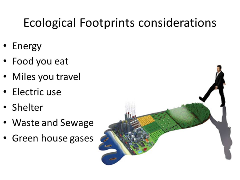 Ecological Footprints considerations