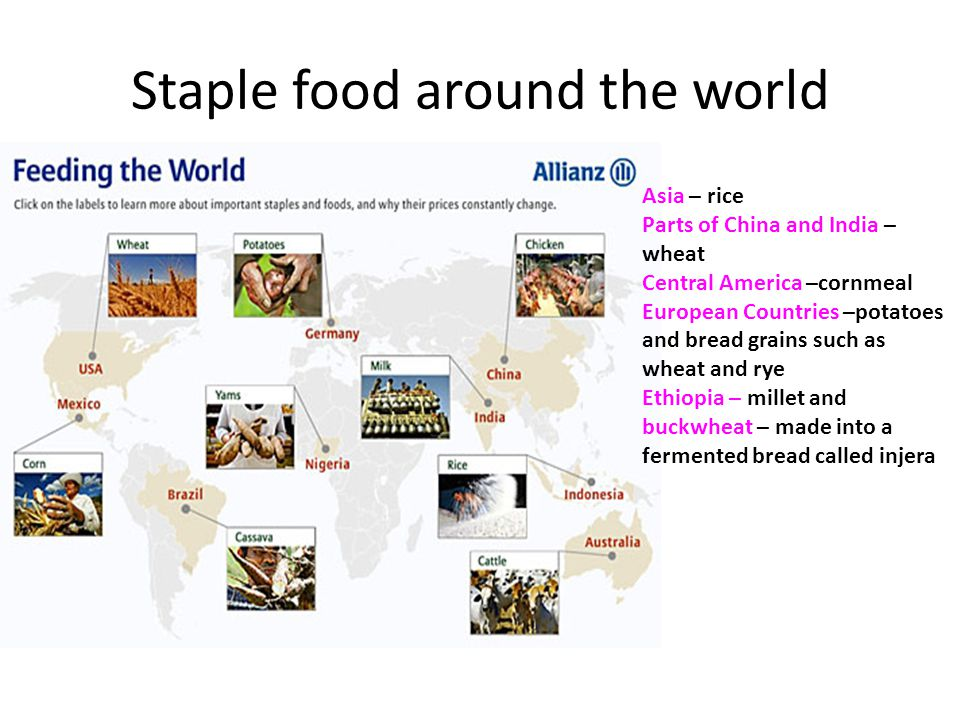Staple food around the world