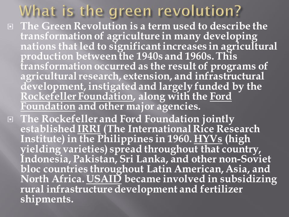 What is the green revolution