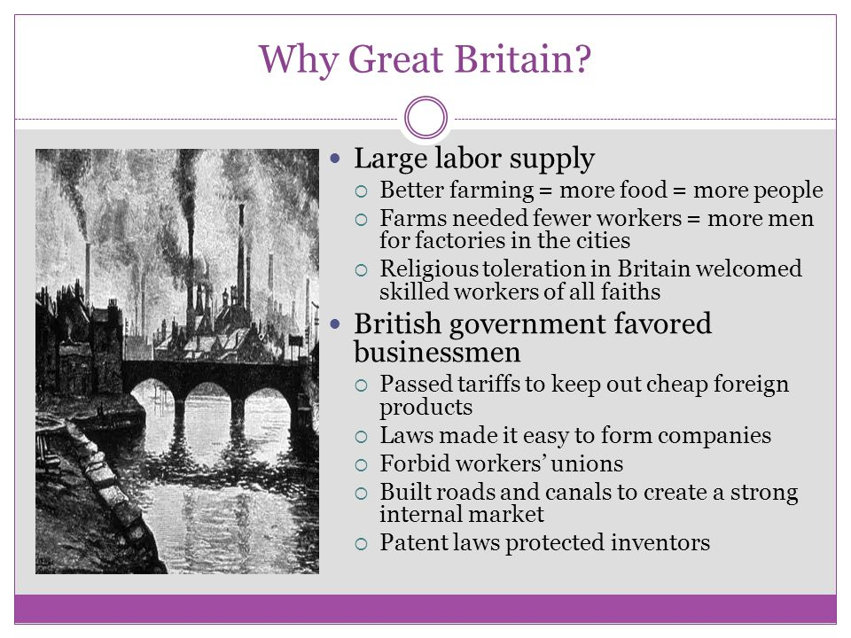 Why Great Britain Large labor supply