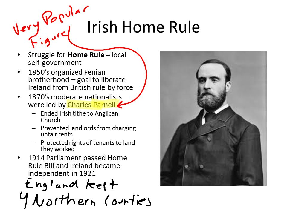 Irish Home Rule Struggle for Home Rule – local self-government