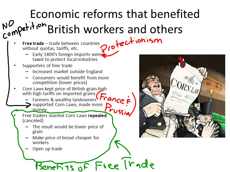Economic reforms that benefited British workers and others
