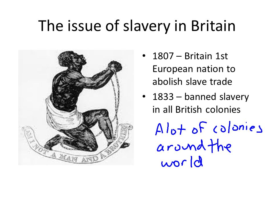 The issue of slavery in Britain