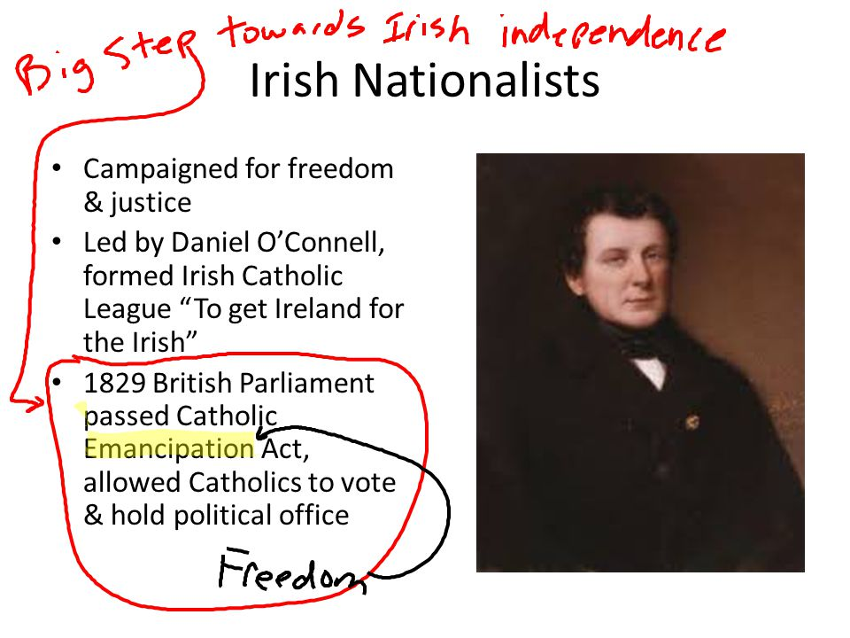 Irish Nationalists Campaigned for freedom & justice