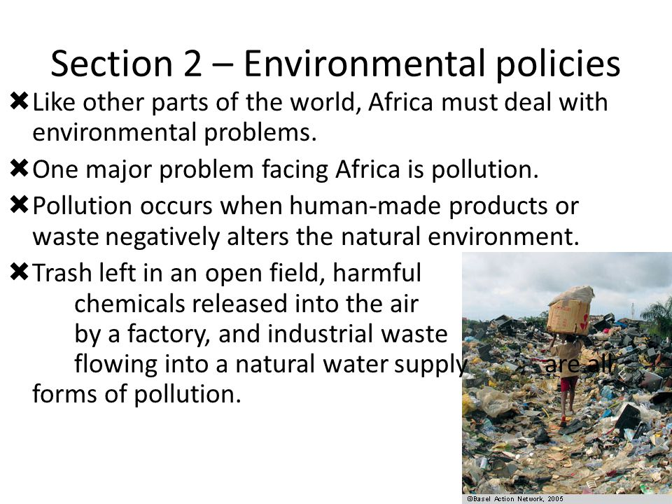 Section 2 – Environmental policies