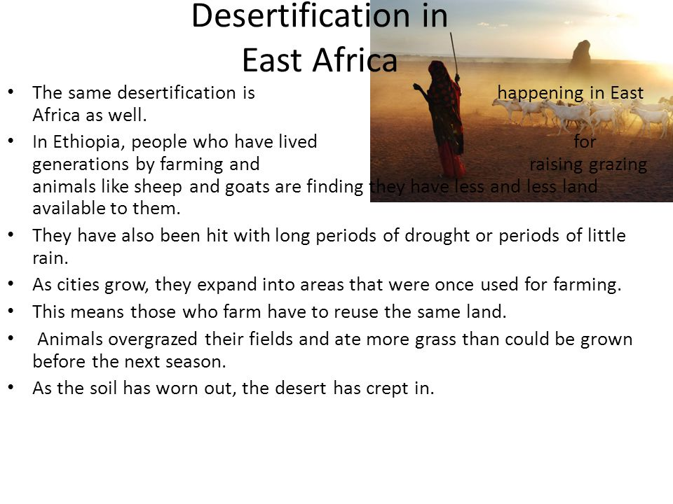 Desertification in East Africa