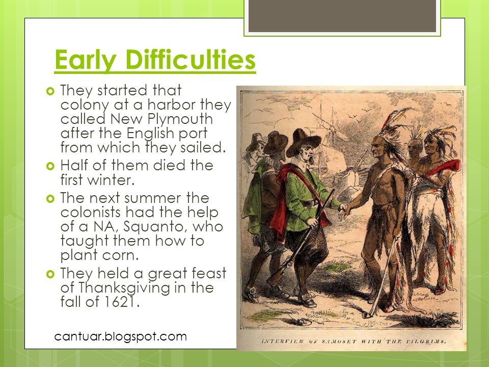 Early Difficulties They started that colony at a harbor they called New Plymouth after the English port from which they sailed.