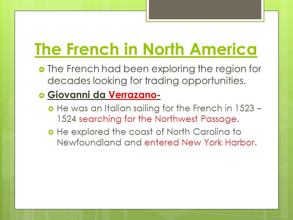 The French in North America