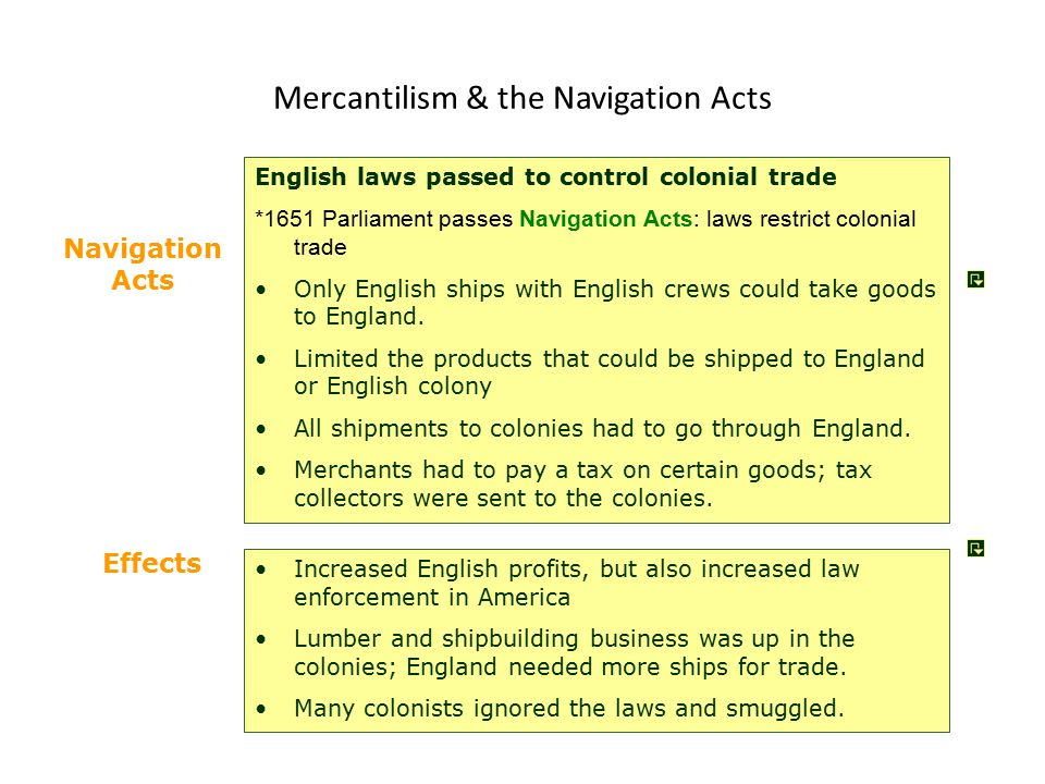 Mercantilism & the Navigation Acts