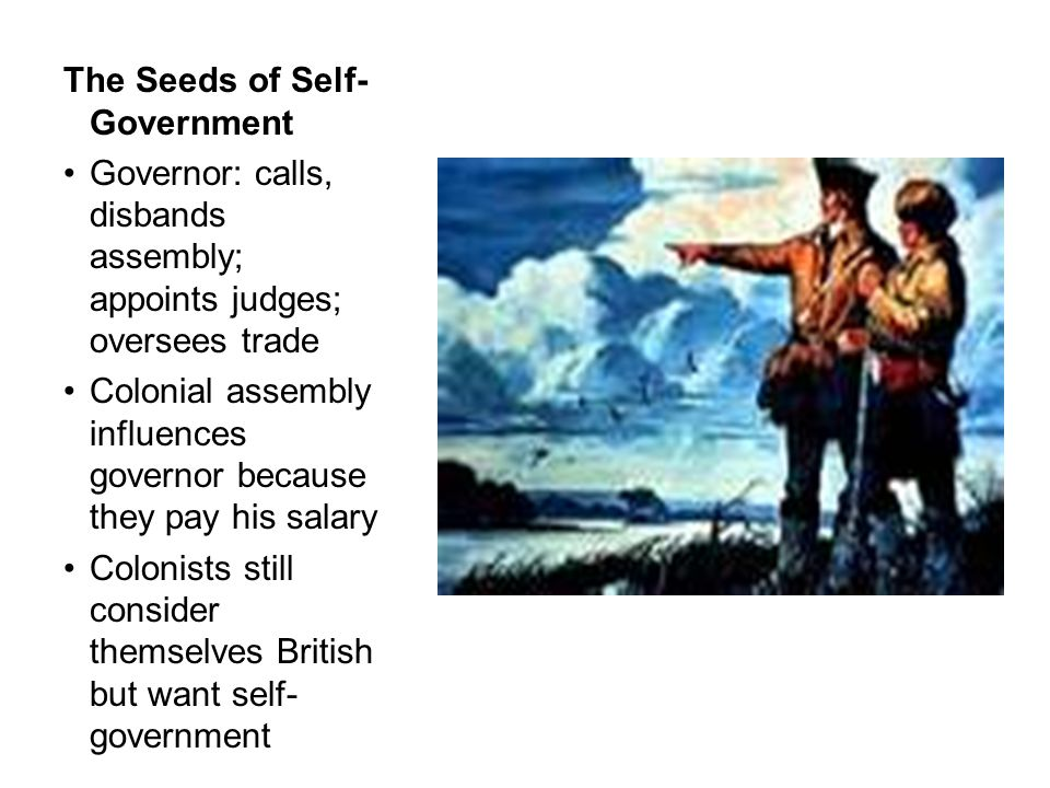 The Seeds of Self-Government