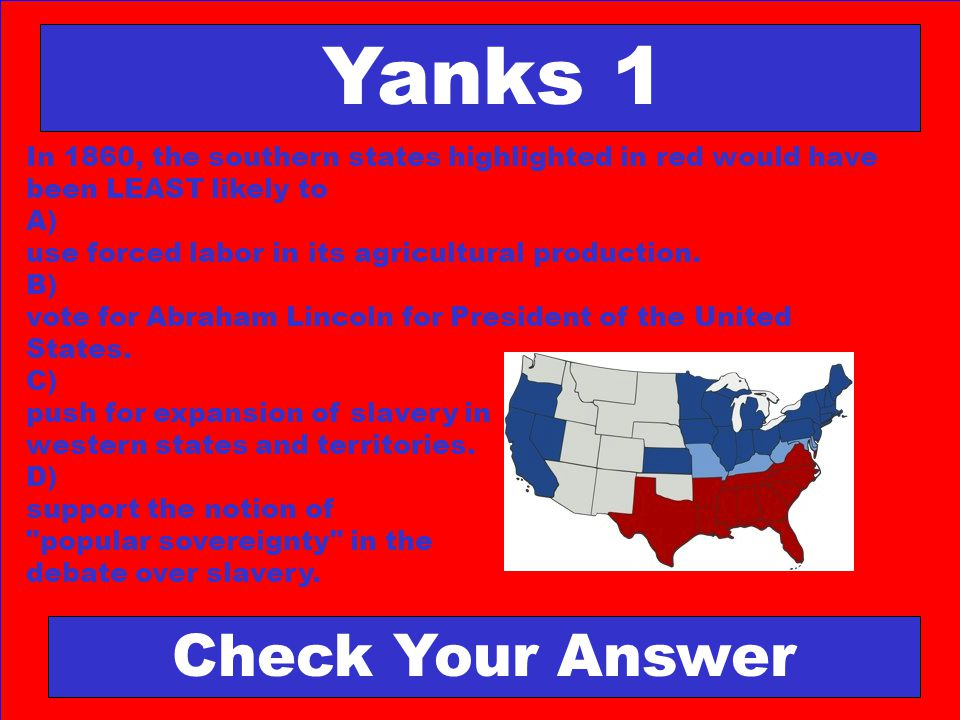 Yanks 1 Check Your Answer