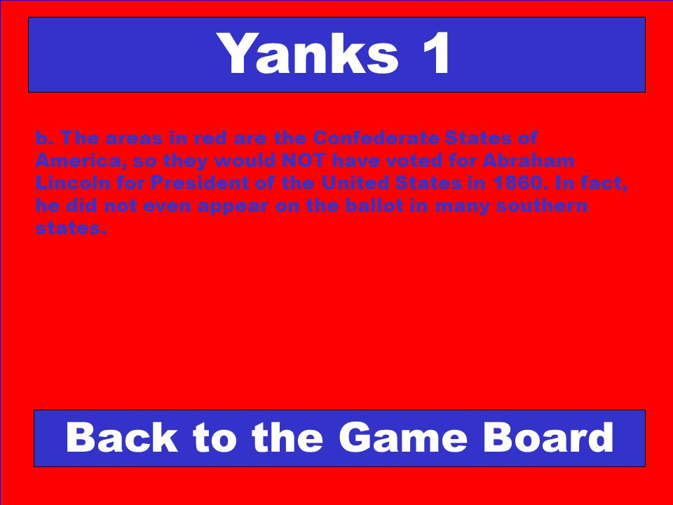 Yanks 1 Back to the Game Board
