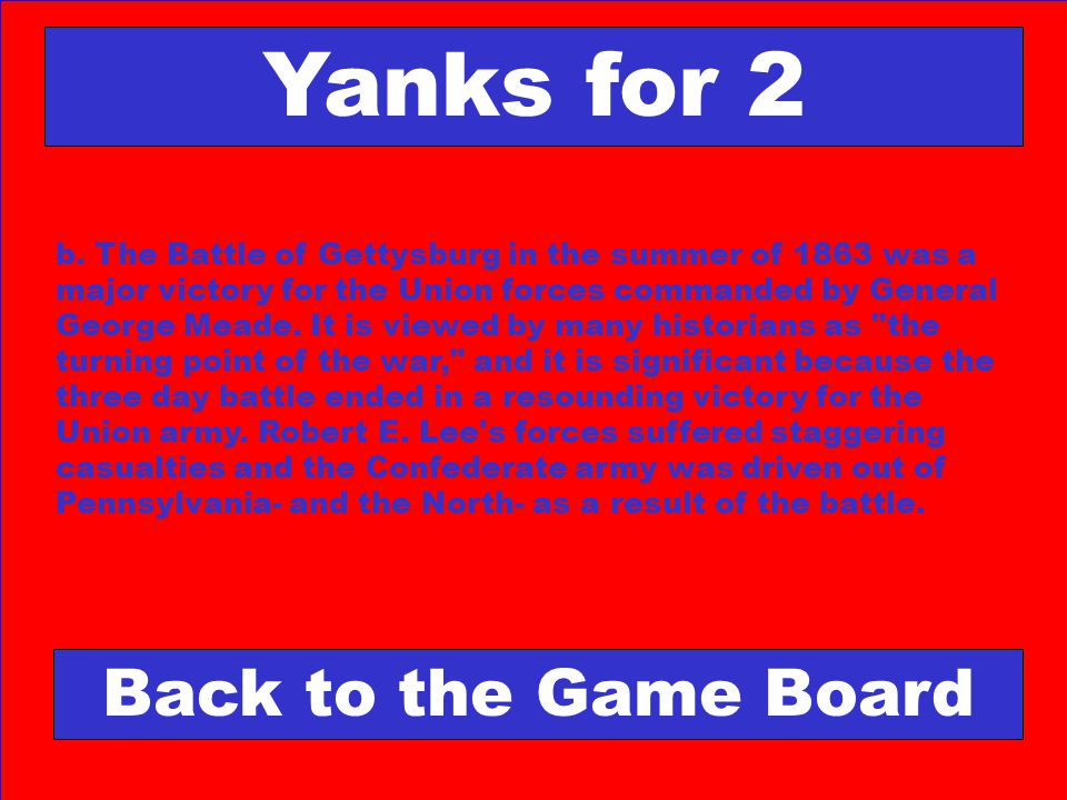 Yanks for 2 Back to the Game Board