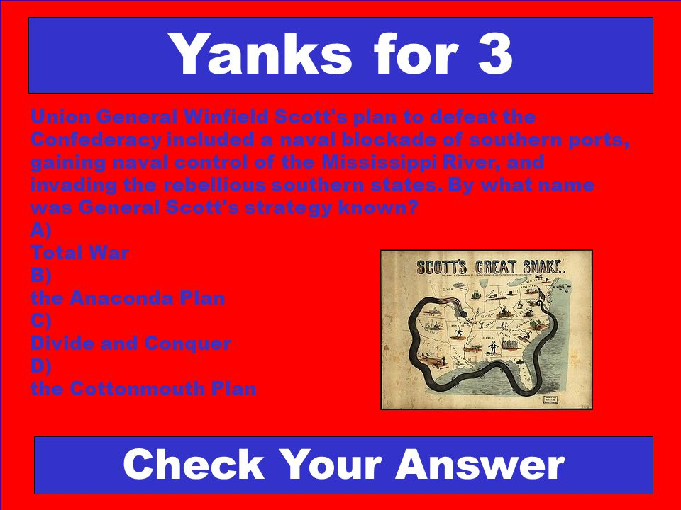 Yanks for 3 Check Your Answer