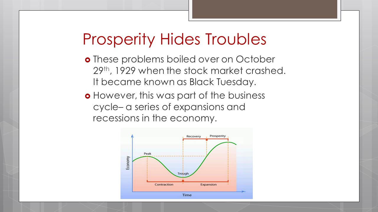 Prosperity Hides Troubles