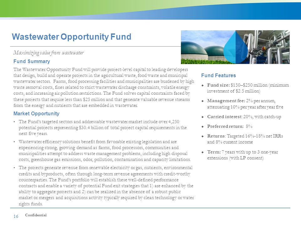 Wastewater Opportunity Fund