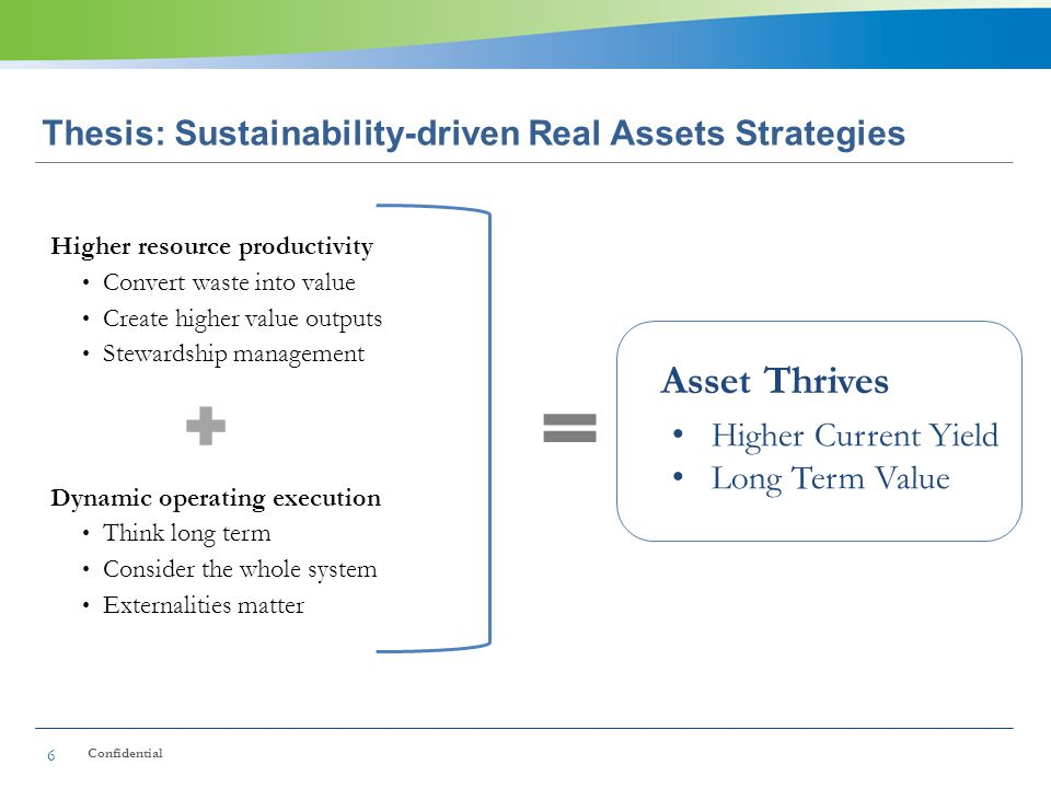 Thesis: Sustainability-driven Real Assets Strategies