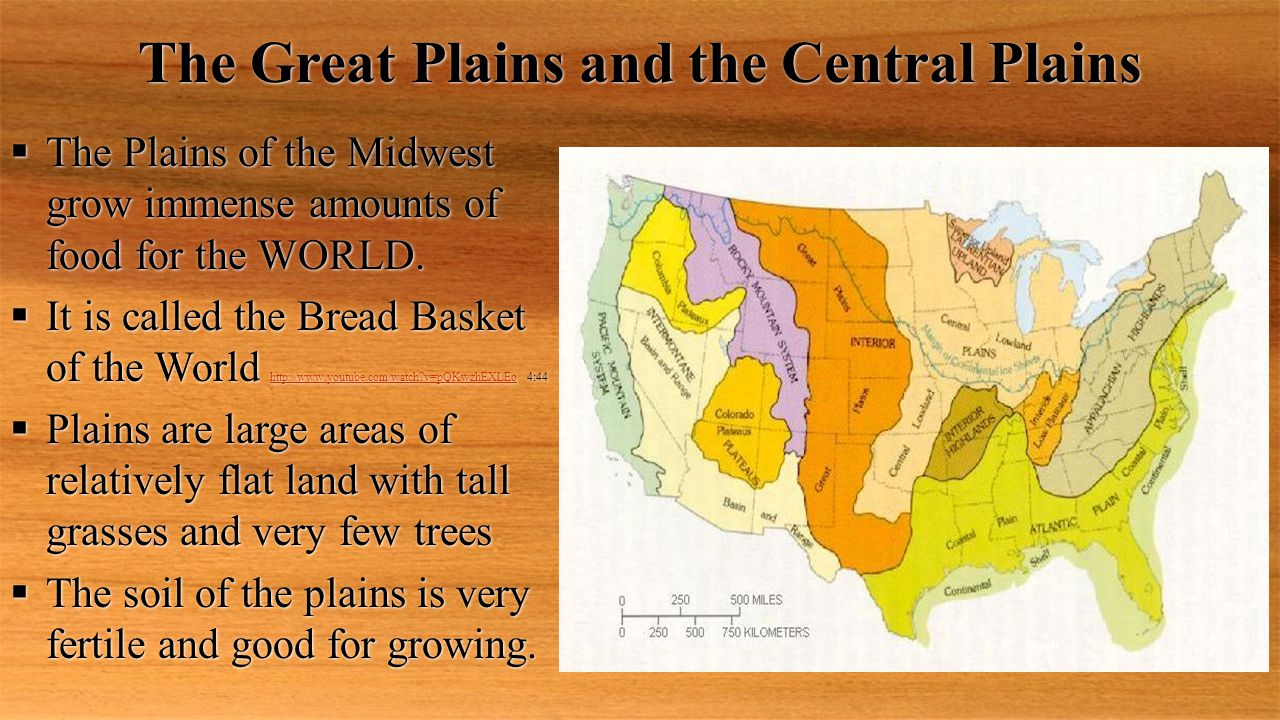 The Great Plains and the Central Plains